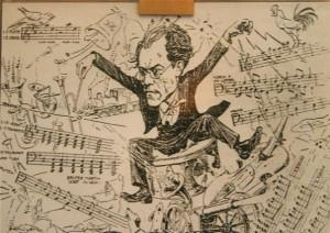 Gustav Mahler on the podium.