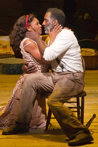 Porgy and Bess at the A.R.T. Audra McDonald as Bess and Norm Lewis as Porgy. Photo Michael J. Lutch.