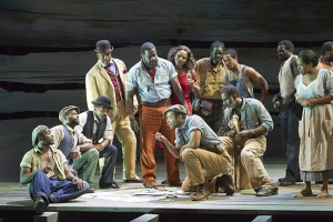 Porgy and Bess at American Repertory Theater. In the storm. Photo Michael J. Lutch.