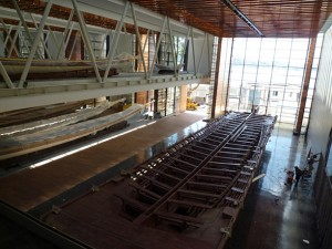 Naval Museum, Istanbul: Ship Gallery under construction. Photo Louise Levathes.