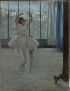 Edgar Degas, Danseuse chez le photographe, 1875, 650 x 500 mm. The State Pushkin Museum of Fine Art, Moscow.