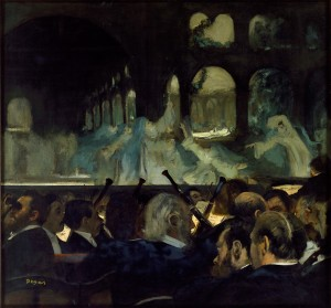 Edgar Degas, Ballet Scene from Meyerbeer's Opera 'Robert le Diable', 1876, oil on canvas, 76.6 x 81.3 cm, Victoria & Albert Museum, London. Image copyright V&A Images / Victoria and Albert Museum, London.