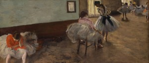Edgar Degas, The Dance Lesson, c. 1879, oil on canvas, 38 x 88 cm, National Gallery of Art, Washington, Collection of Mr. and Mrs. Paul Mellon, 1995.47.6. Photo National Gallery of Art, Washington.