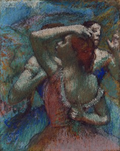 Fig. 6. Edgar Degas, Dancers, c. 1899, pastel on tracing paper laid down on board, 588 x 463 mm. Princeton University Art Museum. Bequest of Henry K. Dick, Class of 1909. Image Bruce M. White.