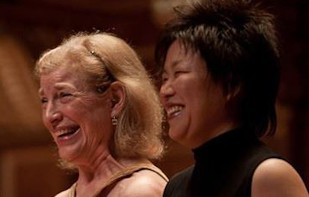 Paula Robison and Katherine Chi. Photo Matt Dine.