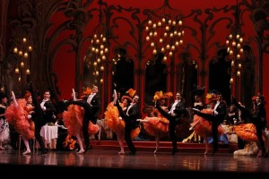Arists of the Australian Ballet as Can Can dancers at Chez Maxime in The Merry Widow. Photo: Jeff Busby.