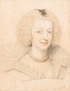 Marie de Lorraine, Duchesse de Guise, by Daniel Dumonstier, 1627