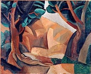 Paysage aux deux figures, 1908.