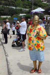 the golden budda's seaside holiday by Stephen Marr. Photo © 2011 Alan Miller.