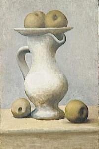 Nature morte au pichet et aux pommes, 1919