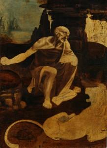 Leonardo da Vinci (1452–1519), Saint Jerome, about 1488–90, oil on walnut, 103 x 75 cm, Musei Vaticani, Vatican City (40337). © Photo Vatican Museums.