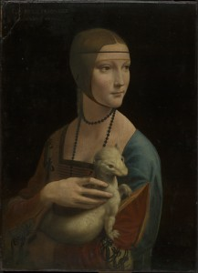 Leonardo da Vinci (1452–1519), Portrait of Cecilia Gallerani ('The Lady with an Ermine'), about 1489–90, oil on walnut, 54.8 x 40.3 cm, Property of the Czartoryski Foundation in Cracow on deposit at the National Museum in Cracow. © Princes Czartoryski Foundation