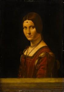 Leonardo da Vinci (1452–1519), Portrait of a Woman ('La Belle Ferronnière'), about 1493–4, oil on walnut, 63 x 45 cm, Musée du Louvre, Paris, Département des Peintures (778). © RMN / Franck Raux.