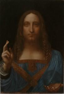 Leonardo da Vinci (1452–1519), Christ as Salvator Mundi, about 1499 onwards, Oil on walnut, 65.5 x 45.1 cm, Private collection, © 2011 Salvator Mundi, LLC., Photo Tim Nighswander/Imaging4Art
