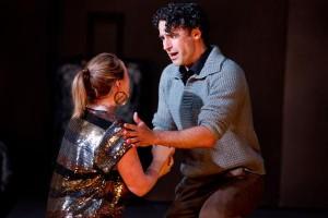 Miriam Allan as Costanza and Tobias Cole as Roberto in Act I of Pinchgut's Griselda. Photo: Simon Hodgson.
