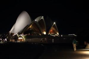 The Sydney Opera House by night. Photo © 2011 Alan Miller.
