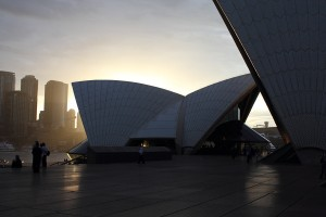 Sunset at the Sydney Opera House. Photo © 2010 Alan Miller.