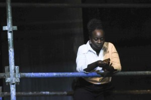 Effie Nkrumah in Buried City. Photo by Heidrun Lohr