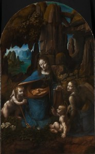 Leonardo da Vinci (1452–1519), The Virgin of the Rocks, about 1491/2–99 and 1506-8, Oil on poplar, thinned and cradled, 189.5 x 120 cm, © The National Gallery, London (NG 1093)