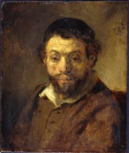 Portrait of a Young Jew, Rembrandt van Rijn, c. 1648, oil on panel. Staatliche Museen Preussicher Kulturbesitz, Gemäldegalerie, Berlin