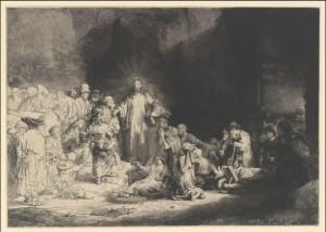 The Hundred Guilder Print (Christ Preaching_ Bring Thy Little Children unto Me)