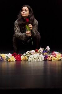 The Sydney Theatre Company's Pygmalion, Act I, Andrea Demetriades as Eliza. Photo by Brett Boardman.
