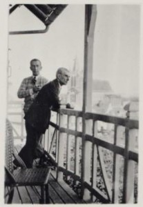 Maurice Ravel and Maurice Delage in Monfort, 1930.