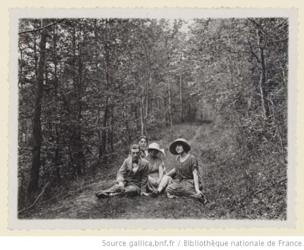 Ravel with Maurice and Nelly Delage and Suzanne Roland-Manuel. Photo by Roland-Manuel?