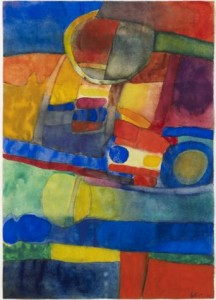 Maurice Estéve (1904-2001), Untitled, executed in 1968, watercolor, 520 x 370 mm. Signed and dated at lower right: Estève 68 . Arturo Cuéllar.