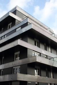 Logements (Rousselle & Laisné Architectes), rue Rebière, Paris. Photo © 2012 Alan Miller.