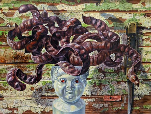 """""""Medusa"""" Aaron Bohrod, 1974, Chazen Museum of Art"""