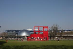 Parc de la Villette, late March. Photo © 2012 Alan Miller.