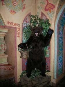 A bear in a restaurant. Photo © 2008 Joanna Gabler.