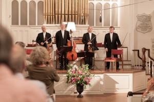 The Tokyo String Quartet in the First Congregational Church, Stockbridge. Photo © 2012 Lucas Miller.