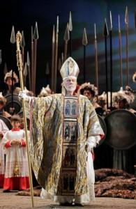 Attila Samuel Ramey (Pope Leo I). Photo by Cory Weaver.