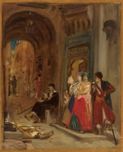 Jean Jules Antoine Lecomte du Nouÿ, Le Samedi dans le quartier juif. Musée d'art et d'histoire du Judaïsme.