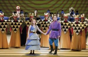 The Magic Flute: Heidi Stober (Pamina) and Alek Shrader (Tamino). Photo by Cory Weaver.