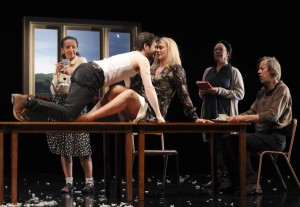 Paula Arundell, Cameron Goodall, Helen Thomson, Sandy Gore and Bruce Spence in Sydney Theatre Company's Under Milk Wood. Photographer: Heidrun Löhr © 2012