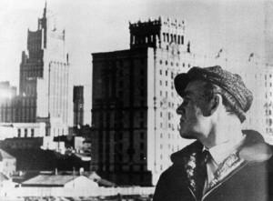 A young Sviatoslav Richter contemplates Soviet progress.