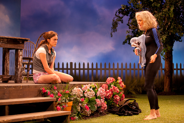 Heather Lind and Blythe Danner in The Blue Deep. Photo T. Charles Erickson.