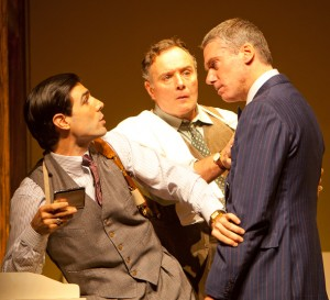ouis Cancelmi, Sean Cullen, and Glenn Fitzgerald in a scene from The Importance of Being Earnest. Photo T. Charles Erickson.