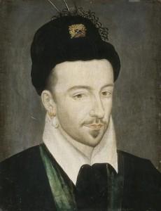 Portrait of Henri III of France, oil on wood. Musée de châteaux de Versailles et de Trianon.