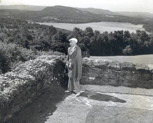 Koussevitzky at Seranak. Photograph by William Whitaker, courtesy BSO Archives.