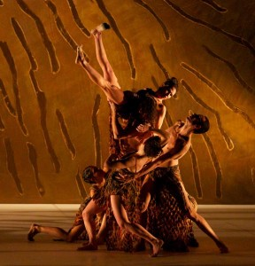 Bangarra Dance Theatre in 'Terrain.' Photo by Greg Barrett.