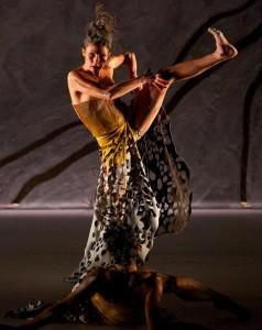 Tara Gower of Bangarra Dance Theatre in 'Terrain.' Photo by Greg Barrett.