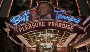 Biff's alternate reality in Back to the Future II (1989).