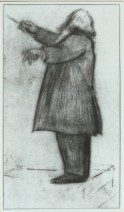 Brahms conducting, by Willy von Beckerath.
