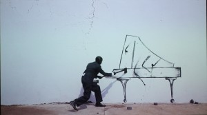 Robin Rhode, Piano Chair, 2011. Photo © 2012 Alan Miller.