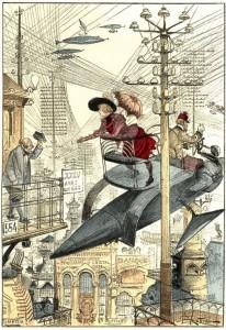 from Albert Robida, La vie électrique (1890)