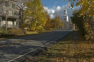 Old Bennington in autumn. Photo © 2005 Michael Miller.